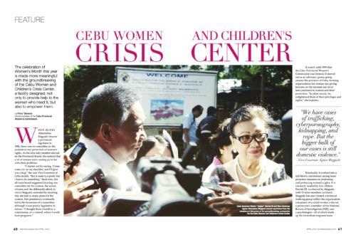 Vice Governor Agnes Magpale and the Cebu Women & Children's Crisis Center